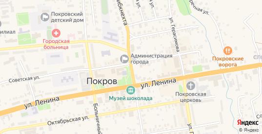 Улица К.Либкнехта в Покрове с номерами домов на карте. Спутник и схема онлайн