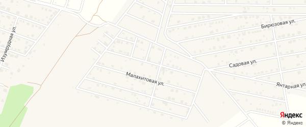 Малахитовая улица на карте деревни Медовки Воронежской области с номерами домов