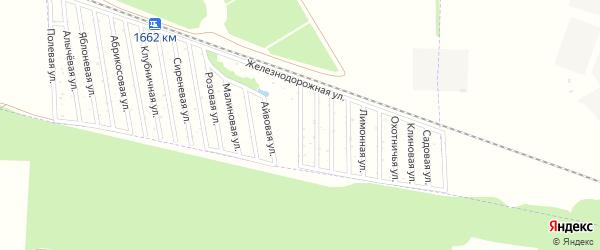 Гранатовая улица на карте Дружба-14 Адыгеи с номерами домов