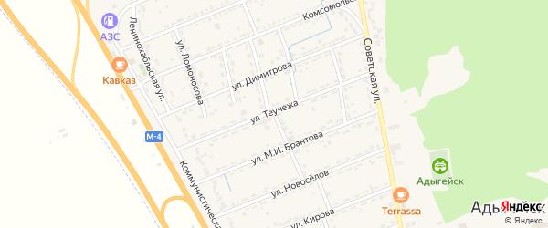 Улица Л.Богузоковой на карте Адыгейска с номерами домов