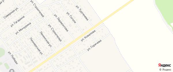 Улица Ковалова на карте Борисоглебского поселка Ярославская области с номерами домов