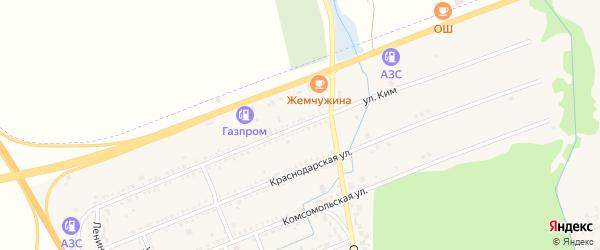 Улица Ким на карте Адыгейска с номерами домов