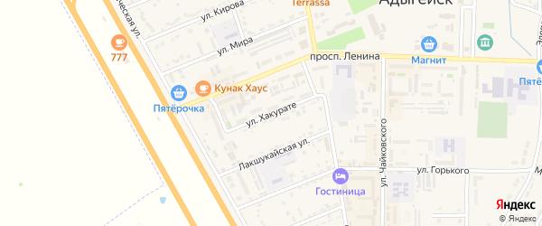 Улица Хакурате на карте Адыгейска с номерами домов