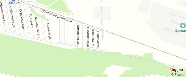 Клиновая улица на карте Дружба-14 Адыгеи с номерами домов