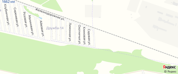 Садовая улица на карте Дружбы Адыгеи с номерами домов