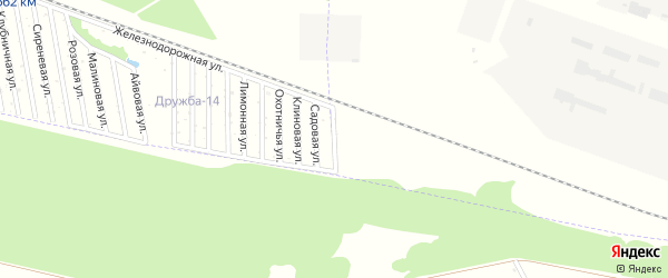 Калиновая улица на карте Дружба-14 Адыгеи с номерами домов