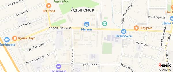Шханчерихабльская улица на карте Адыгейска с номерами домов