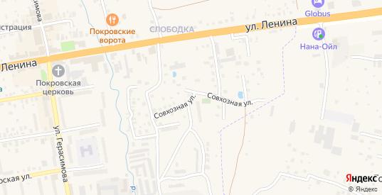Совхозная улица в Покрове с номерами домов на карте. Спутник и схема онлайн