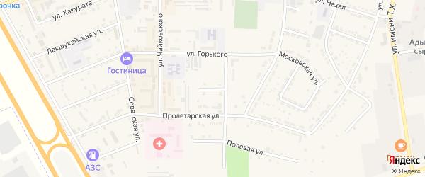 Южная улица на карте Адыгейска с номерами домов