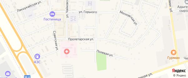 Пролетарская улица на карте Адыгейска с номерами домов