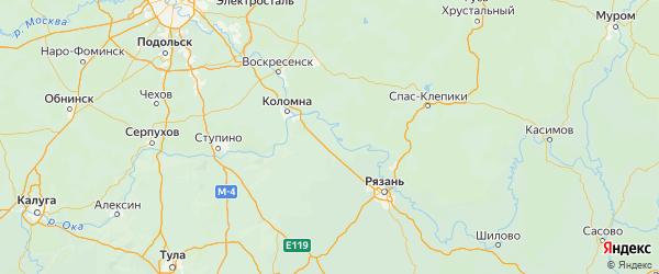 Карта Луховицкого района Московской области с городами и населенными пунктами
