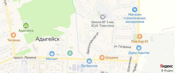 Кабардинская улица на карте Адыгейска с номерами домов