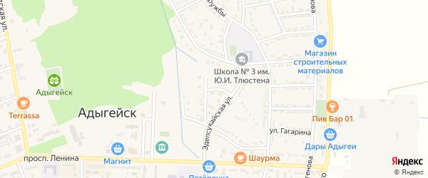 Убыхская улица на карте Адыгейска с номерами домов