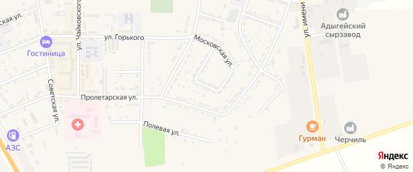 Казанукайская улица на карте Адыгейска с номерами домов