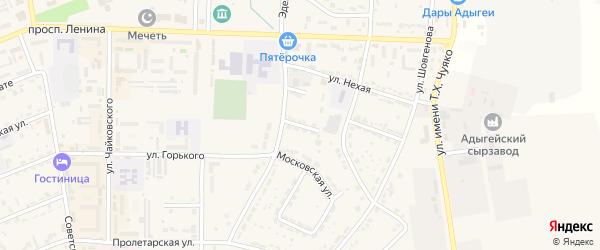 Улица Фрунзе на карте Адыгейска с номерами домов
