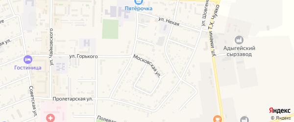 Московская улица на карте Адыгейска с номерами домов