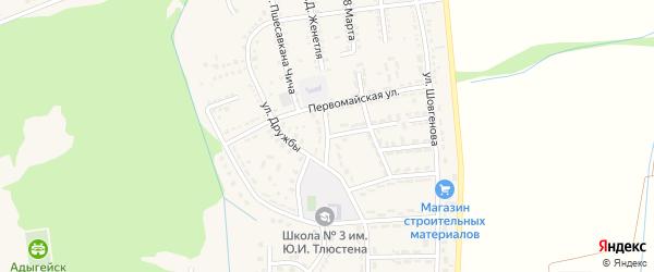 Октябрьская улица на карте Адыгейска с номерами домов