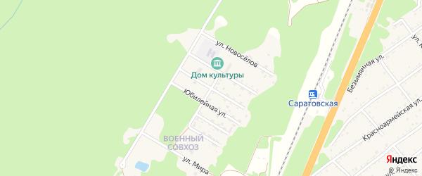 Краснодарская улица на карте станицы Саратовской Военсовхоза с номерами домов
