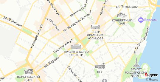 Карта территории ДНП Колосок в Воронеже с улицами, домами и почтовыми отделениями со спутника онлайн