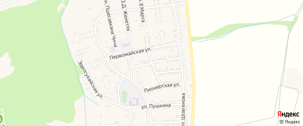 Улица Х.Я.Беретаря на карте Адыгейска с номерами домов