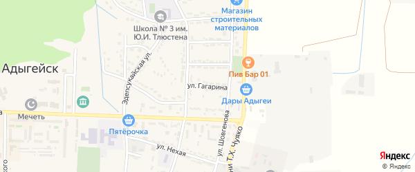 Улица Гагарина на карте Адыгейска с номерами домов