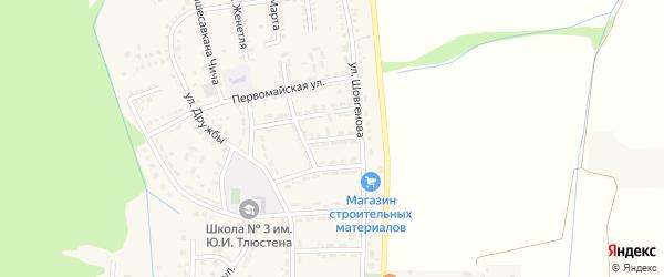 Ленинградская улица на карте Адыгейска с номерами домов