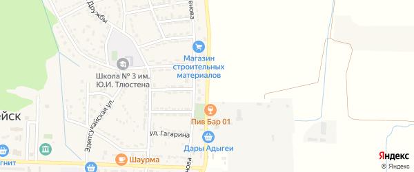 Улица им Т.Х.Чуяко на карте Адыгейска с номерами домов