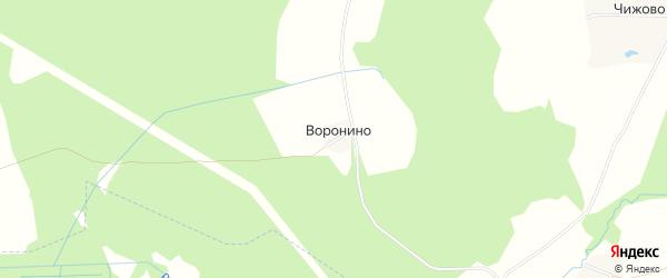 Карта деревни Воронино в Ярославская области с улицами и номерами домов