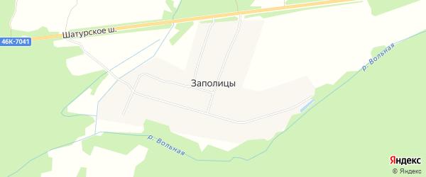 Садовое товарищество Ландо на карте деревни Заполицы Московской области с номерами домов