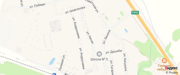 Д.Нехая улица на карте Адыгейска с номерами домов