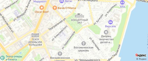 Улица 25 Октября на карте Воронежа с номерами домов