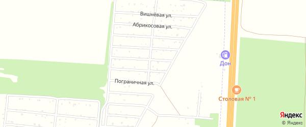Солнечная улица на карте территории СНТ Одуванчика Воронежской области с номерами домов