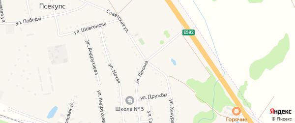 Советская улица на карте хутора Псекупса с номерами домов