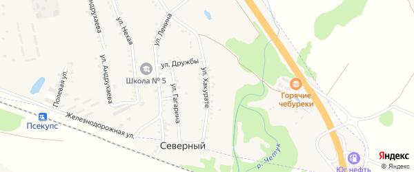 Улица Хакурате на карте хутора Псекупса с номерами домов
