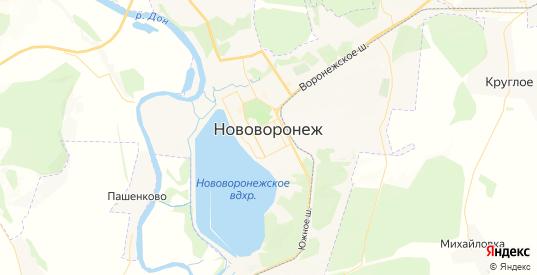 Карта Нововоронежа с улицами и домами подробная. Показать со спутника номера домов онлайн