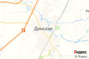 Карта ст. Динская Краснодарский край
