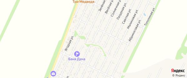 Веселая улица на карте ДСНТ ТРУДА Краснодарского края с номерами домов
