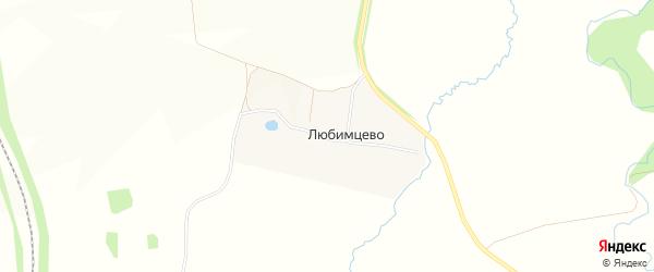 Карта деревни Любимцево в Ярославская области с улицами и номерами домов