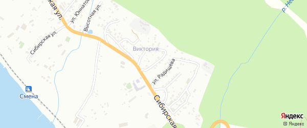 Улица Есенина на карте Сочи с номерами домов
