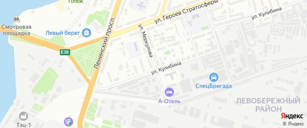 Улица Меркулова на карте Воронежа с номерами домов