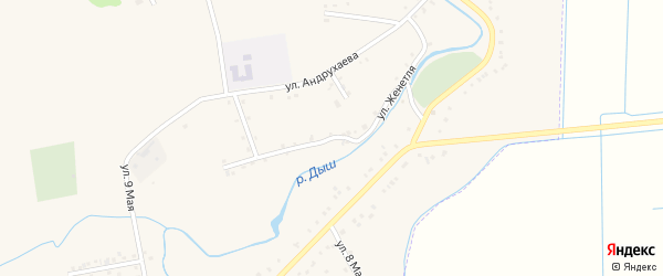 Улица Н.И.Женетля на карте аула Гатлукая с номерами домов