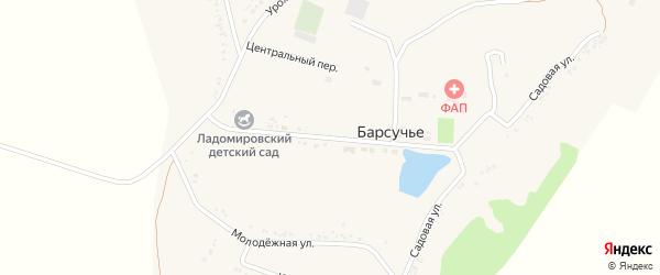 Центральная улица на карте села Барсучьего Белгородской области с номерами домов