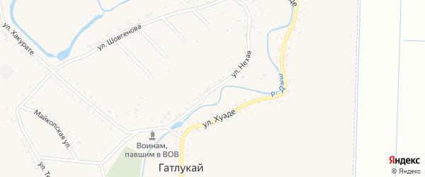 Д.Нехая улица на карте аула Гатлукая с номерами домов