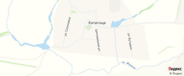 Карта села Катагоща в Рязанской области с улицами и номерами домов
