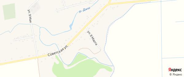 Улица 8 Марта на карте аула Гатлукая с номерами домов