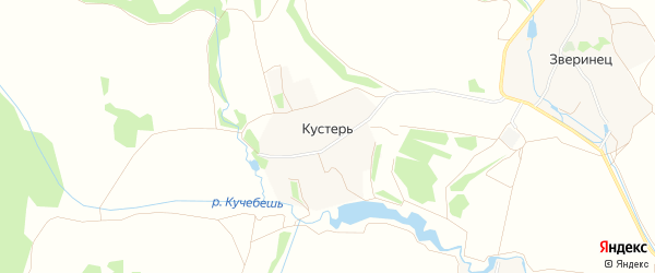 Карта деревни Кустеря в Ярославская области с улицами и номерами домов