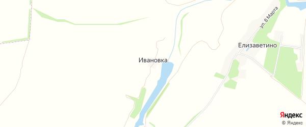 Карта деревни Ивановки в Липецкой области с улицами и номерами домов