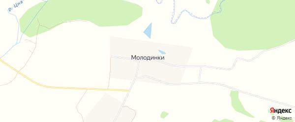 Карта деревни Молодинки города Коломны в Московской области с улицами и номерами домов