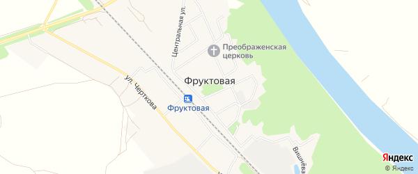 ГСК Весна на карте поселка Фруктовой с номерами домов