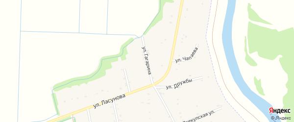 Улица Гагарина на карте аула Пчегатлукая Адыгеи с номерами домов